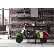 """SIT THIS & THAT Weintisch """"Italien"""" aus einem recyceltem Roller Ablage für 6 Flaschen, Gläserhalter, 1 Ablageboden"""