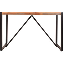 SIT Tisch 120x70 cm Altholz, Metall mit Kufengestell bunt