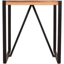 SIT Tisch 70x70 cm Altholz, Metall mit Kufengestell bunt