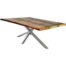 SIT TISCHE & BÄNKE Tisch 160x85 cm  Platte bunt, Gestell antiksilbern