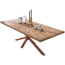 SIT TISCHE & BÄNKE Tisch 160x90 cm  Platte natur, Gestell antikbraun