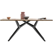 SIT TISCHE & BÄNKE Tisch 160x90 cm  Platte natur, Gestell antikschwarz