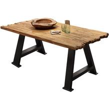 SIT TISCHE & BÄNKE Tisch 180x100 cm Platte natur, A-Gestell antikschwarz