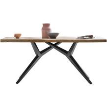SIT TISCHE & BÄNKE Tisch 200x100 cm  Platte natur, Gestell antikschwarz