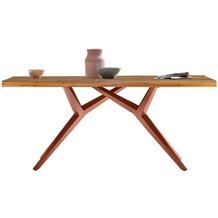 SIT TISCHE & BÄNKE Tisch, 200x100 cm, Platte recyceltes Teak, M-Gestell Metall antikbraun