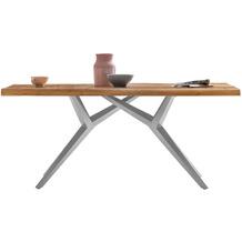 SIT TISCHE & BÄNKE Tisch 220x100 cm  Platte natur geölt, Gestell antiksilbern