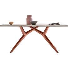 SIT TISCHE & BÄNKE Tisch 220x100 cm  Platte white wash, Gestell antikbraun