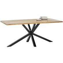 SIT tische & bänke Tisch 240x100 cm Platte Akazie, Gestell Metall Platte natur, Gestell Metall antikschwarz 15206-11