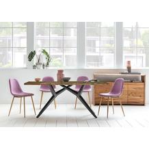 SIT TISCHE & BÄNKE Tisch, 240x100 cm, Platte Altholz lackiert, Gestell Metall antikschwarz