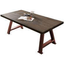 SIT TISCHE & BÄNKE Tisch 240x100 cm Platte carbon-grau, A-Gestell antikbraun