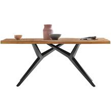 SIT TISCHE & BÄNKE Tisch 240x100 cm  Platte natur geölt, Gestell antikschwarz