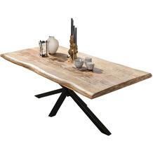 SIT TISCHE & BÄNKE Tisch 240x100 cm  Platte natur, Gestell antikschwarz