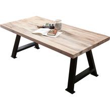 SIT TISCHE & BÄNKE Tisch 240x100 cm  Platte white wash, Gestell antikschwarz