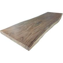 SIT TOPS & TABLES Tischplatte 220x90/100 cm natürliche Form wie gewachsen natur