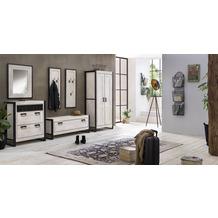 SIT WHITE PANAMA Schrank 2 Türen weiß mit antikschwarz