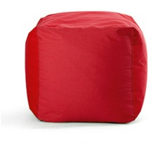 Sitting Bull Hocker Cube, rot
