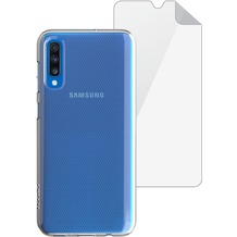 Skech Matrix SE Case + Displayschutzfolie  | Samsung Galaxy A70 | transparent | SKBD-A7018-MTS-CLR