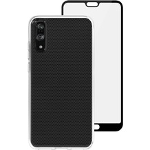 Skech Matrix SE Case + Glas Displayschutz, Huawei P20, transparent, SK17-BD-MTX