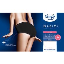 Sloggi Basic+ Midi 3er Pack black 36