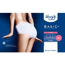 Sloggi Basic+ Midi 3er Pack white 36