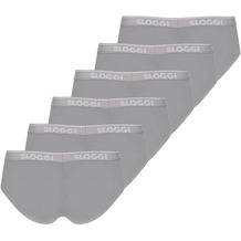 Sloggi men GO ABC Midi 6er Pack stone grey L