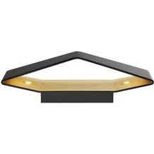 SLV BIG CARISO LED Wandleuchte 2, schwarz/ messing 2x 9W LED, 3000K schwarz/messing
