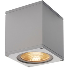SLV BIG THEO CEILING, Outdoor Deckenleuchte, LED, 3000K, silbergrau