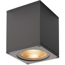 SLV BIG THEO WALL, Outdoor Wandleuchte, Flood down, LED, 3000K, anthrazit, B/H/T 13/14/13,5 cm