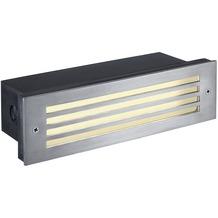 SLV BRICK MESH LED EDELSTAHL 316 Wandeinbauleuchte, 4W LED, warmweiss, IP54 edelstahl