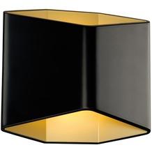 SLV CARISO LED Wandleuchte 2, schwarz/ messing, 7,5W LED, 3000K schwarz/messing