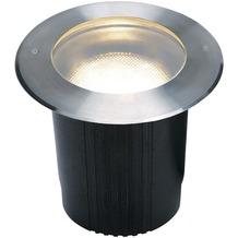 SLV DASAR 215 UNI Bodeneinbau- leuchte, rund, Edelstahl 316, E27, max. 80W, IP67 edelstahl