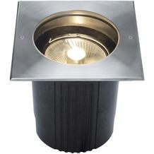 SLV DASAR ES111 Bodeneinbau- leuchte, eckig, Edelstahl 316, max. 75W, IP67 edelstahl