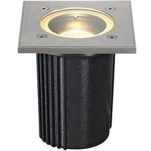 SLV DASAR EXACT GU10 Bodeneinbauleuchte, eckig, Edelstahl 316, max. 35W, IP67