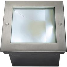 SLV DASAR LED SQUARE Bodenein- bauleuchte, Edelstahl 316, asymmetrisch, 34W, 4000K, IP67 edelstahl