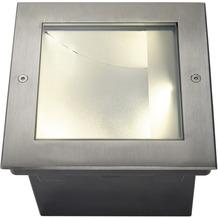 SLV DASAR LED SQUARE Bodeneinbau- leuchte, asymmetrisch, Edel- stahl 316, 34W, 3000K edelstahl