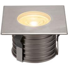 SLV DASAR PREMIUM HV, Bodeneinbau- leuchte, eckig, 50W, 24°, 3000K edelstahl