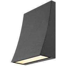 SLV DELWA WIDE LED Outdoor Wandleuchte, 3000K, 100°, schwarz, IP44