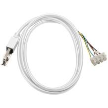 SLV EINSPEISER, für D-TRACK Hochvolt-Stromschiene 2Phasen, weiß, mit 2m Kabel