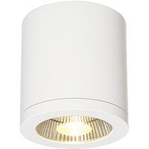 SLV ENOLA_C LED Deckenleuchte, CL-1, rund, weiss, 9W LED, 35°, 3000K