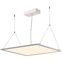SLV I-VIDUAL, LED-Panel für Rasterdecken, 3000K, silbergrau, L/B 59,5/59,5 cm