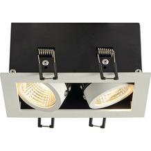 SLV KADUX LED DL Set, mattweiss, 2x9W, 38°, 3000K, inkl. Treiber weiß matt