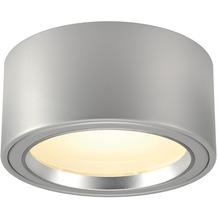 SLV LED AUFBAUSTRAHLER 1800lm, rund, silbergrau, 48 LED, 3000K silbergrau