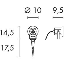 SLV NAUTILUS LED 304S, Edelstahl gebürstet, 3x1W warmweiss, IP55