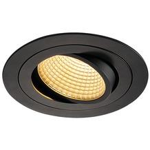 SLV NEW TRIA LED DL ROUND Set, mattschwarz, 12W, 38°, 2700K, inkl. Treiber, Clipfed. schwarz
