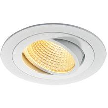 SLV NEW TRIA LED DL ROUND Set, mattweiss, 12W, 38°, 2700K, inkl. Treiber, Clipfed. weiß