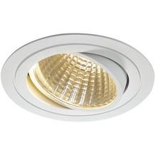 SLV NEW TRIA LED DL ROUND Set, mattweiss, 25W, 30°, 3000K, inkl. Treiber, Clipfed. weiß
