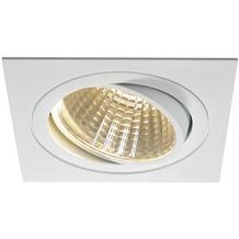 SLV NEW TRIA LED DL SQUARE Set, mattweiss, 25W, 30°, 3000K, inkl. Treiber, Clipfed. weiß