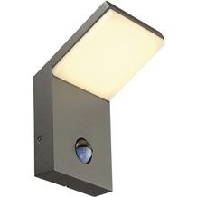 SLV ORDI LED Wandleuchte, anthrazit, 3000K, mit Sensor, anthrazit