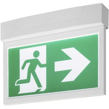 SLV P-LIGHT Emergency Exit sign big ceiling/wall, white weiß