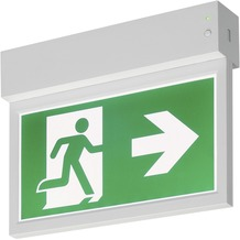 SLV P-LIGHT Emergency Exit sign small ceiling/wall, white weiß